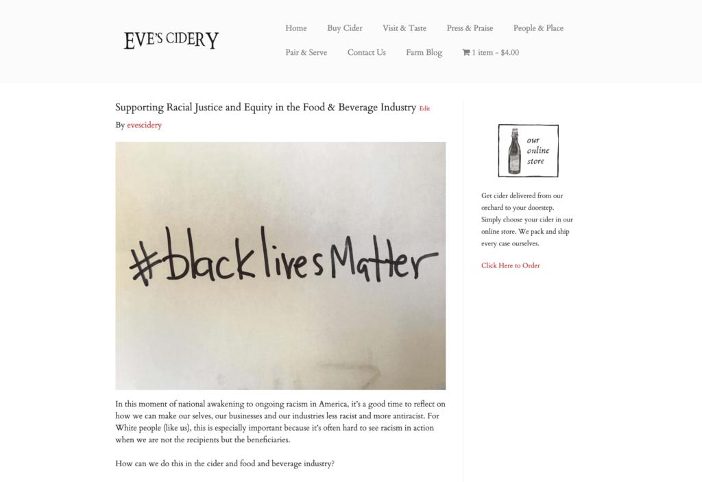 Post on evescidery about #blacklivesmatter
